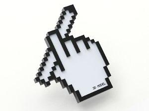 cursor creative pencil 3D model