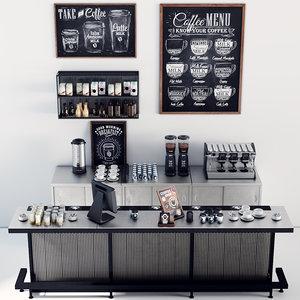 3D model coffee bar