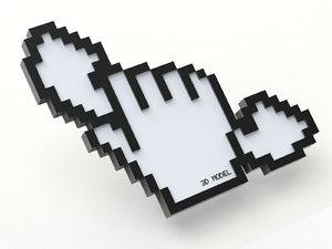 3D model cursor creative phone