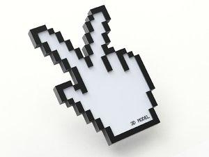 cursor creative victory 3D model
