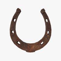3D model horseshoe horse