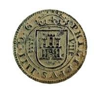 3D model old ancient spanish coin