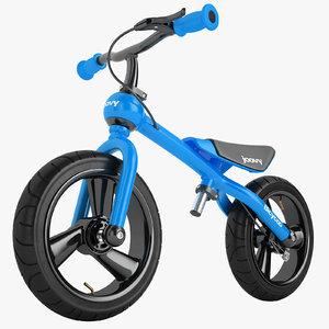 bicycoo balance bike 3D