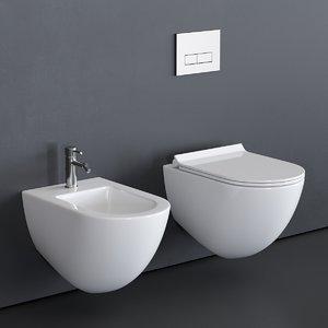 3D wall-hung toilet dream 7312