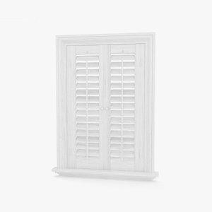 3D window shutter