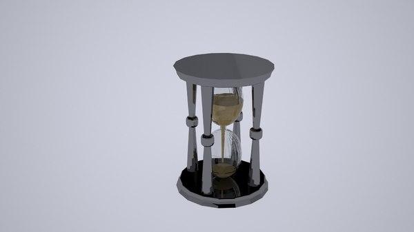 3D sand watch model