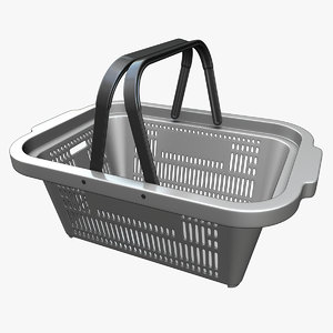 plastic shopping basket 1 3D model