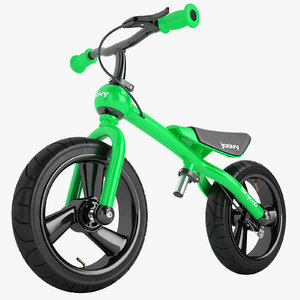 3D bicycoo balance bike model