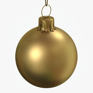 christmas ball gold matte 3D model