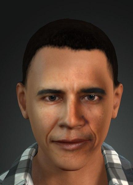 3D barrak obama
