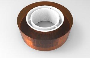 scotch tape 3D model