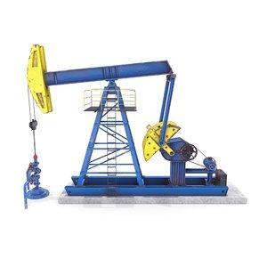 3D oil pumpjack model