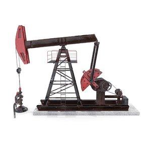 oil pumpjack 2 3D model