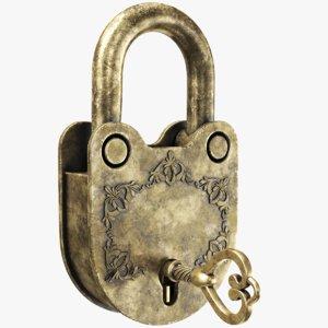 real padlock key model