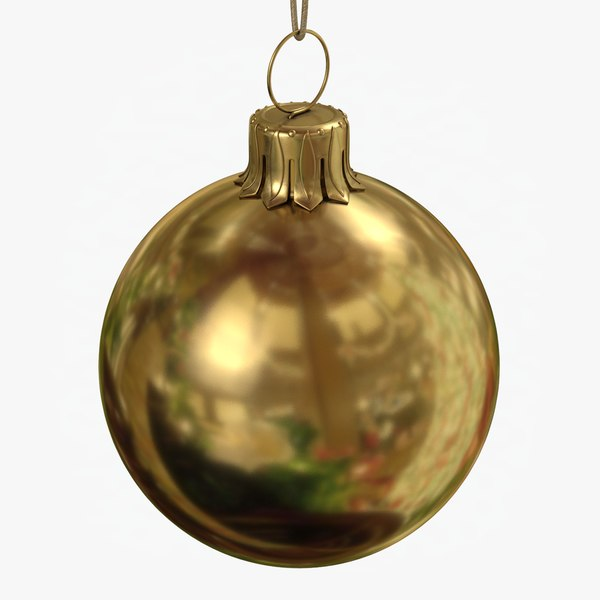 christmas ball gold glossy 3D model
