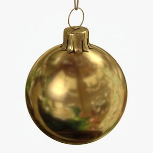 christmas ball gold glossy 3D model
