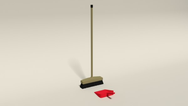3D model broom dustpan