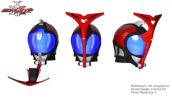 kamen rider kabuto 3D model