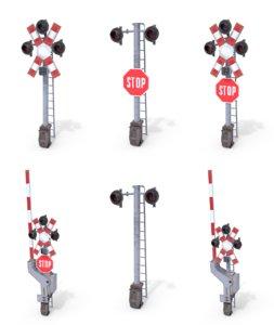pack rail crossing traffic light model