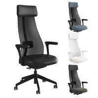 3D office chair ikea jrvfjllet
