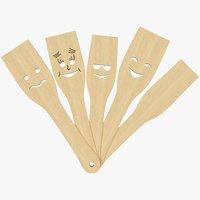 3D set kitchen spatulas