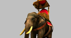 elephant carriage 3D model