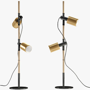 3D carson floor lamp brushed
