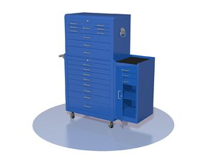 3D container furniture cupboard model