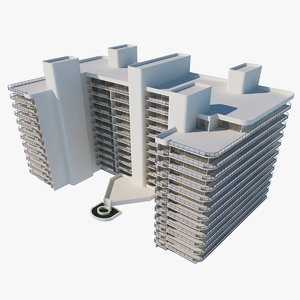 miami beach building games 3D model