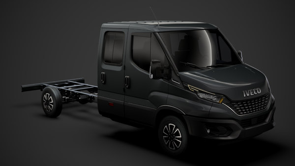 3D iveco daily crew cab model
