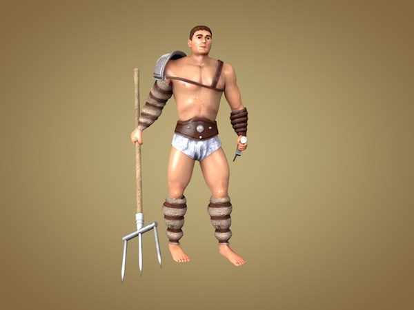 gladiator retiarius 3d model