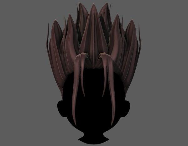 hair style boy v64 3D