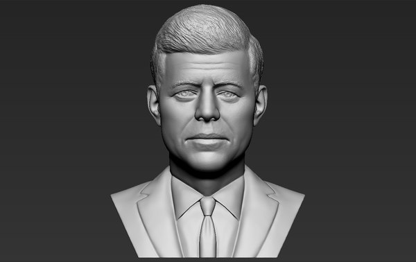 3D john kennedy bust ready model