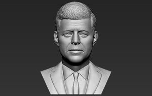 3D john kennedy bust ready model