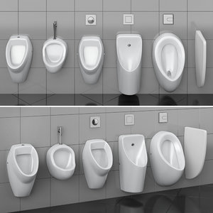 urinals cersanit set 74 3D model