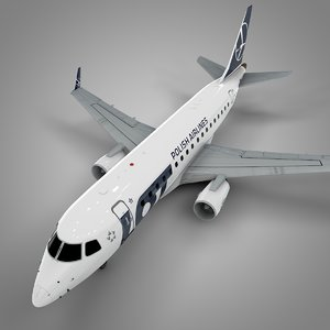 lot polish airlines embraer170 3D model