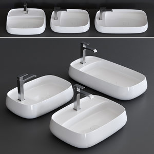 3D nur plan washbasin model