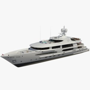 amels 212 imagine yacht 3D model