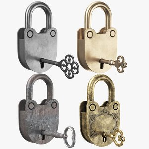 3D real padlocks key