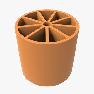3D cylinder wheel