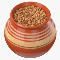 3D ceramic pot buckwheat