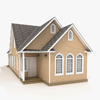 one-story cottage 86 3D model