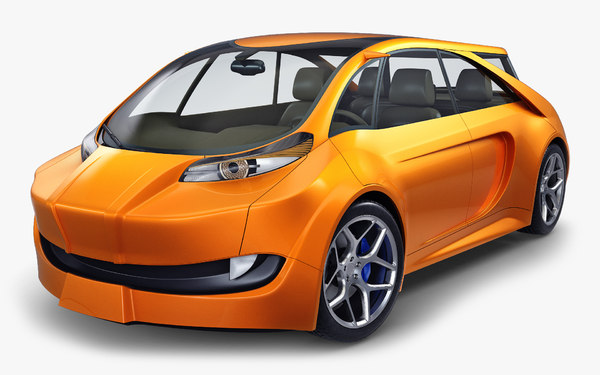 3D model generic electric concept car