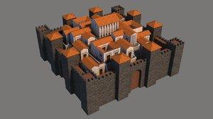 3D town rome