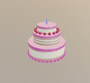 3D cake balls candle model