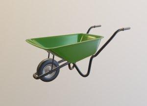green metal 3D model