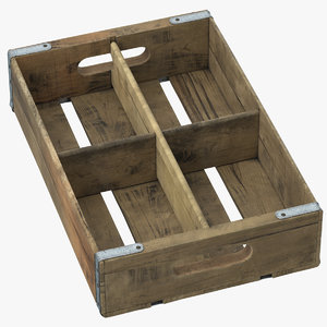 vintage fruit crate 3D model