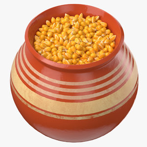 ceramic pot corn 3D