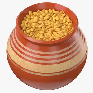 3D ceramic pot wheat