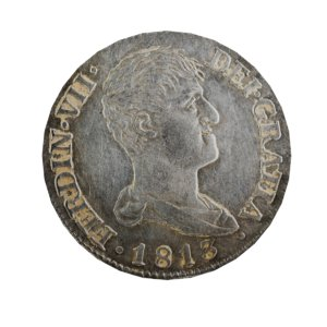 old ancient spanish coin 3D